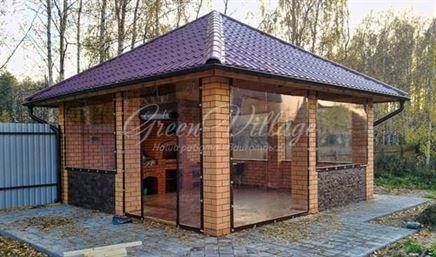 Гибкие окна – идеальный вариант для гриль-домиков в Москве